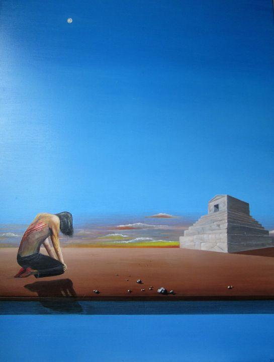 the remorseful Persian - Darius Sanei paintings