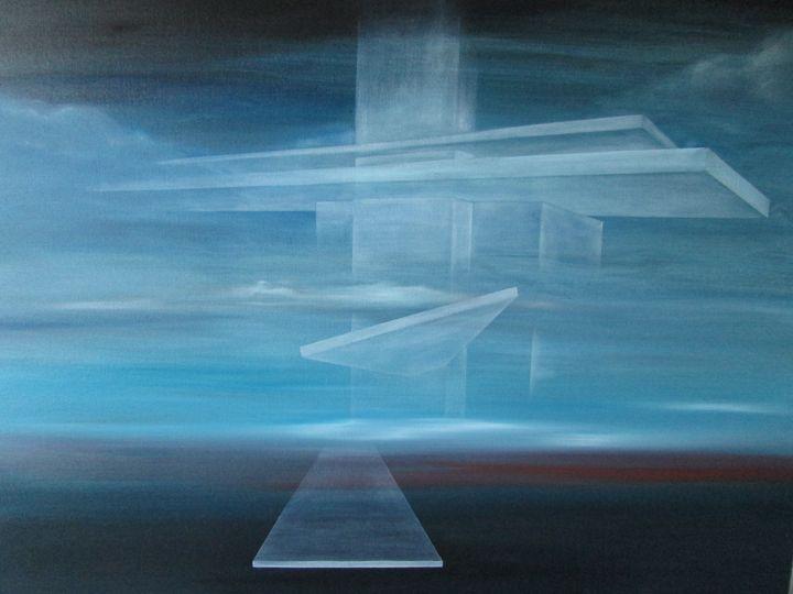 an architect's dream (2) - Darius Sanei paintings