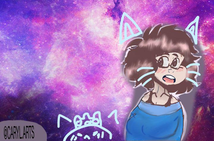 Kitty galaxy - Caryl's artwork