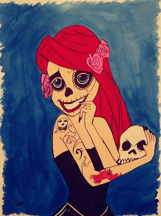 Sugar Skull Ariel - Heather Marie's Dark Art Boutique