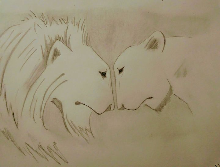 Lions in Love - Heather Marie's Dark Art Boutique