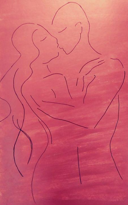 Couple Embraced - Heather Marie's Dark Art Boutique