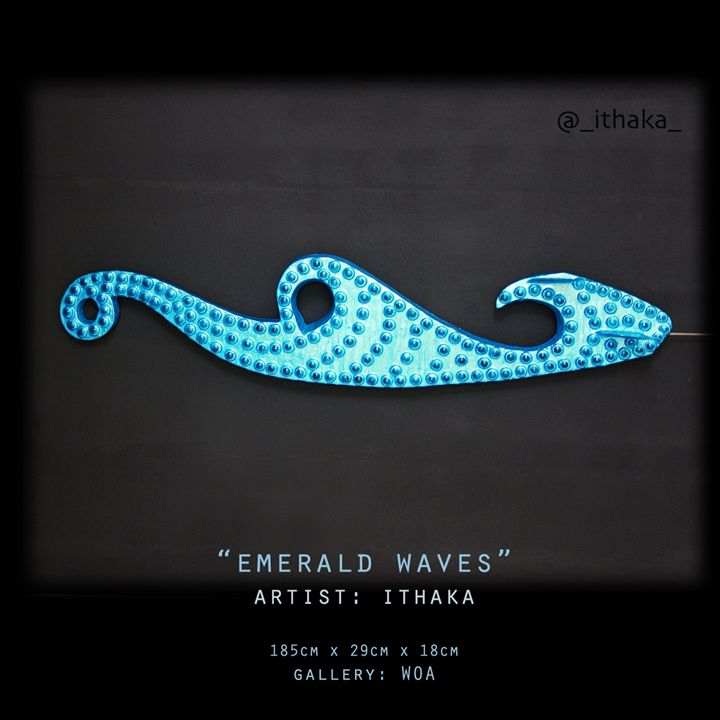 Emerald Waves - Artworks By Ithaka