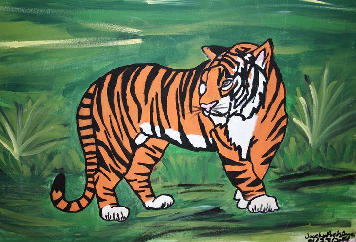 Jungle cat / eye of the tiger - JPreisinger Art