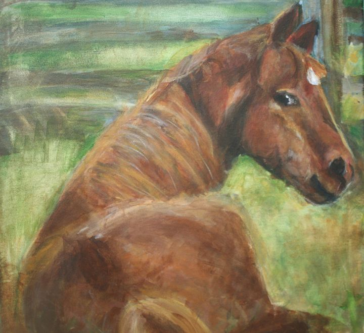 horse in a pasture - Paintings by Kelsey Fiala