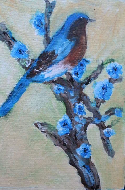 blue bird - Paintings by Kelsey Fiala