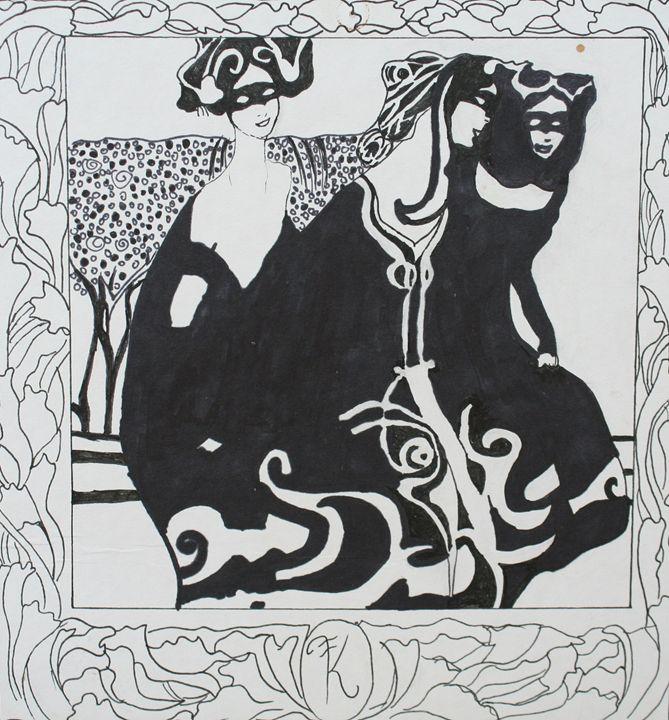 ladies in black - Paintings by Kelsey Fiala