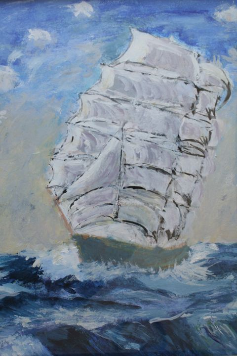 ship on the sea - Paintings by Kelsey Fiala