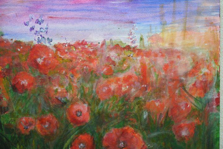 poppy - Paintings by Kelsey Fiala