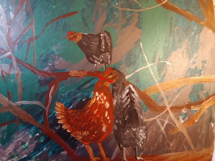 Chickens in the woods - Keith Aumiller