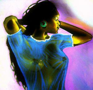 Black Woman In Blue