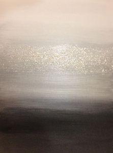 Glittering ombré gradient monochrome