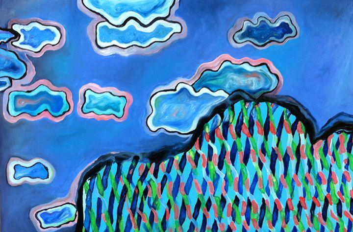 Ain't Chillaxin' on Cloud Nine - Julie Orr Art