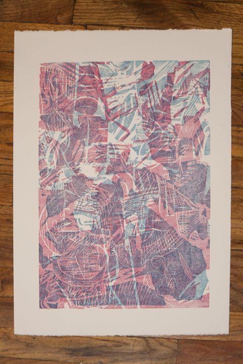 Collage 5 (Ghost Print) - Jeffrey Herrera