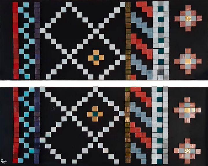 A - Bisazza mosaic 2 canvas - Lola Bolena