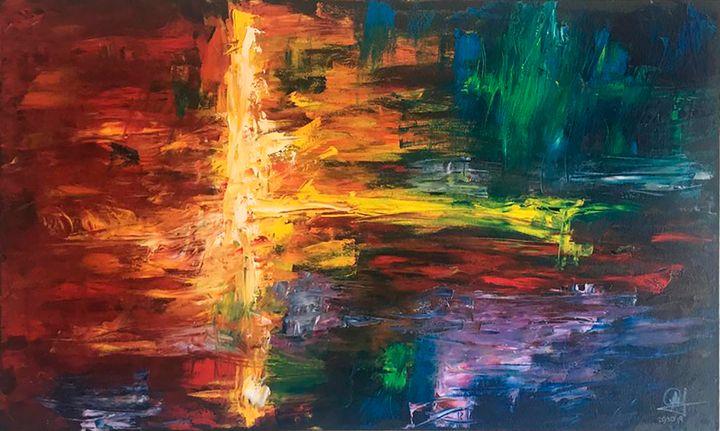 A - Abstract colourful acrylic paint - Lola Bolena