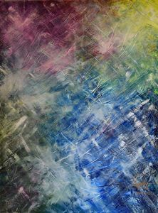 A - Abstract oil colourful painting