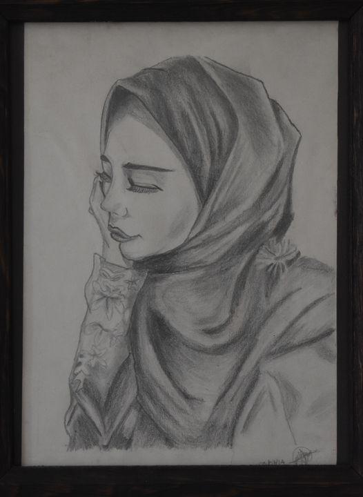 A middle east girl pencil - Lola Bolena