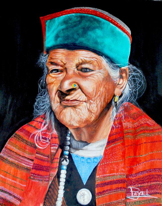 The Blind Lady - Payel's Art