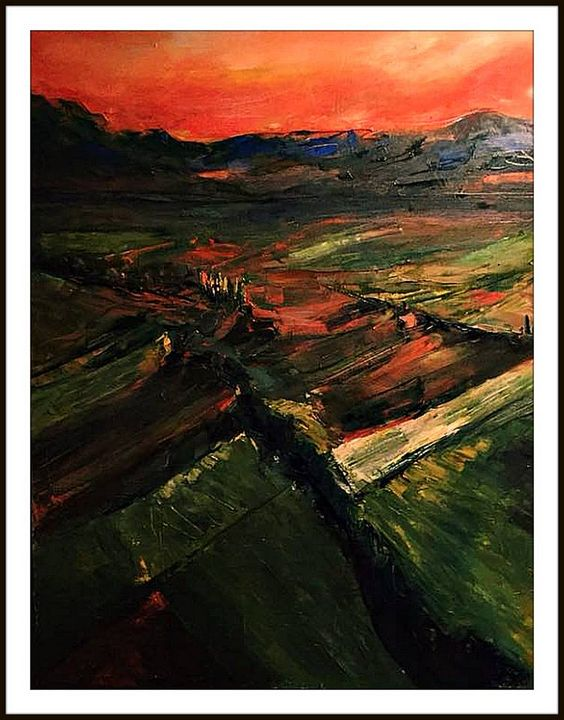 """Sundown on Alazani "" - Levan Tchabukiani"