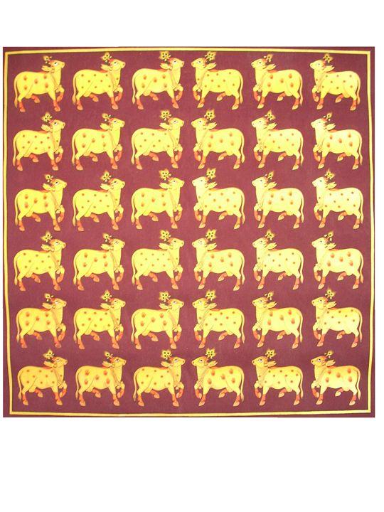 Golden Cows - Pichwai Painting Artist