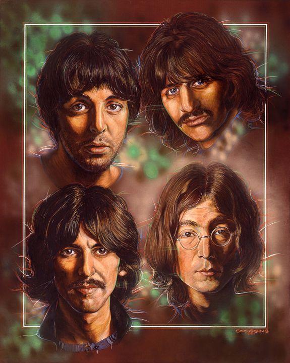 The Beatles 1983 - Scoggins Art