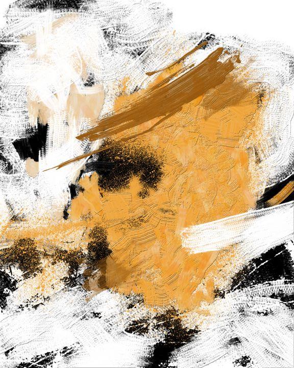 2/18 abstract black gold white line - zeljko stoilkovic