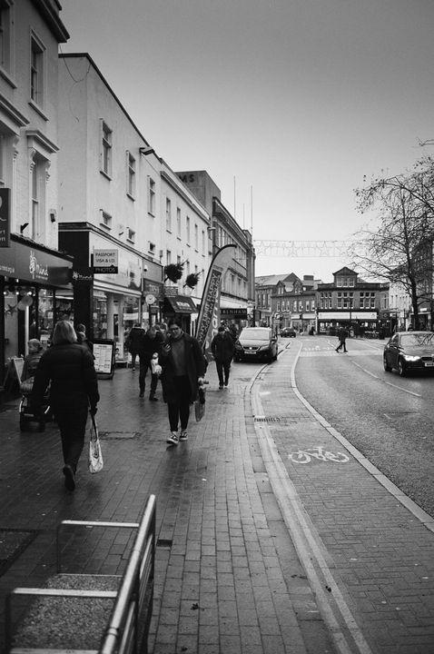 Taunton High Street - Film Photography