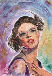 Shocked Girl Portrait