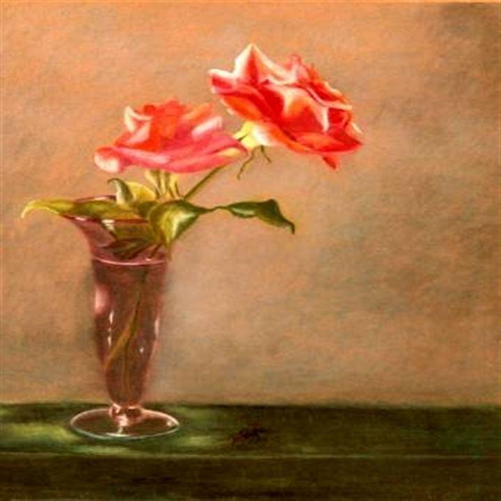 Roses In Vase - Dianne Tumey's Artworks