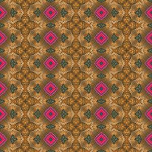 Kaleidoscopic wallpaper tiles