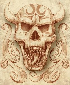 Horned Skull - RJM Illustrations
