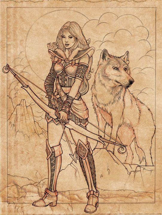 Skade Goddess Sketch - RJMN Illustrations