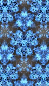 Kaleidoscope Burst of Blue