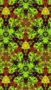 Kaleidoscope Burst of Lime Green