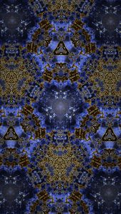 Goldish Blue Kaleidoscope
