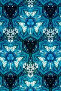Blue Crystal Kaleidoscope