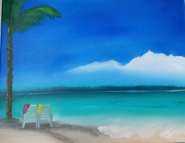 Beach day - Paintings by J. Silverman