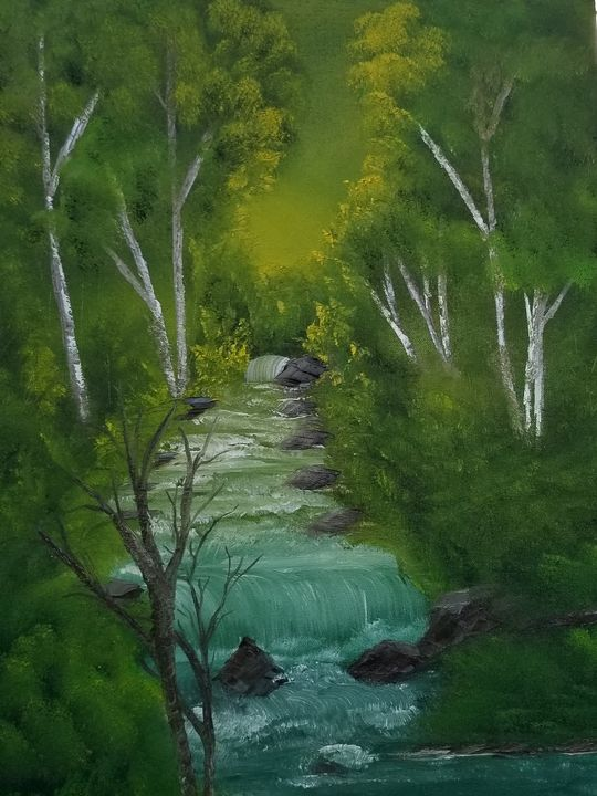 Babbling brook - Paintings by J. Silverman