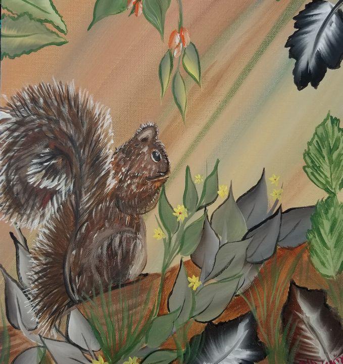 Squirrel - Paintings by J. Silverman