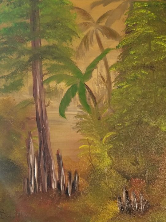 Florida everglades - Paintings by J. Silverman