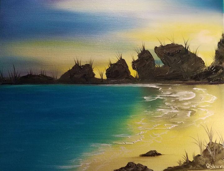 Horseshoe Beach, Bermuda - Paintings by J. Silverman