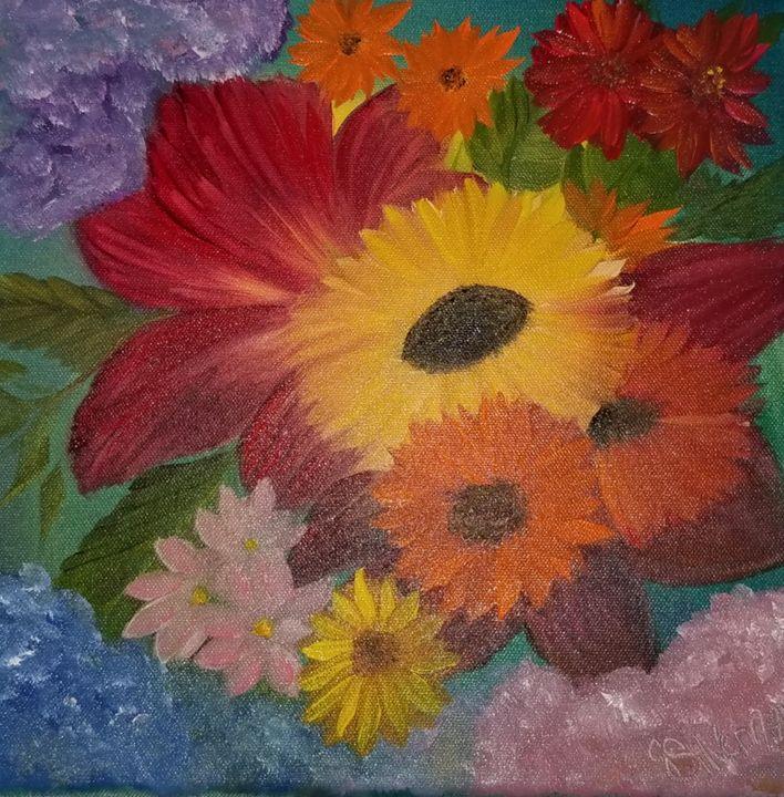 FLOWERS IN OIL - Paintings by J. Silverman
