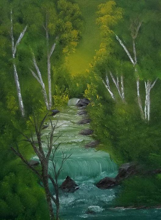 Meandering brook - Paintings by J. Silverman