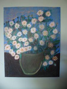 daisys in pot.