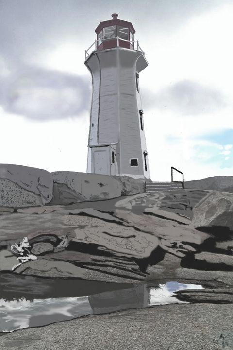 Peggy's Cove Lighthouse - Kiss Me Arts