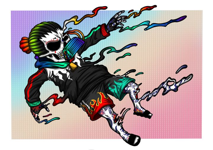 "Dread Skull the Drown ""dead flame"" - WVD.studio"