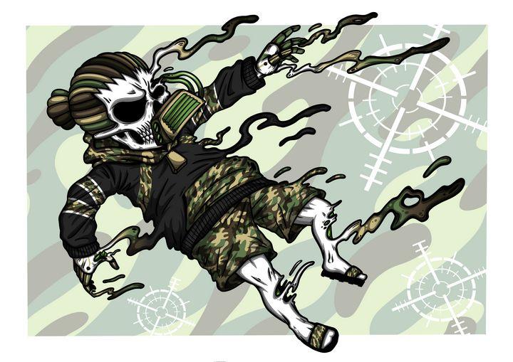 "Dread Skull the Drown ""assault camo"" - WVD.studio"