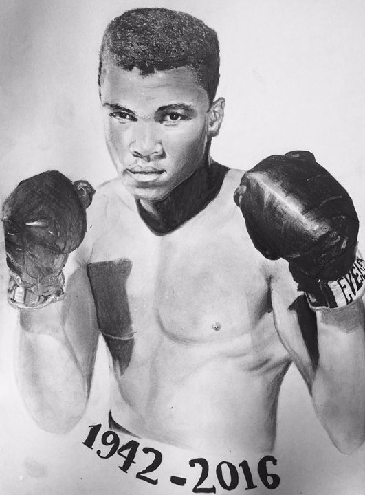 Muhammad Ali Drawing Original Signed - artZportraits