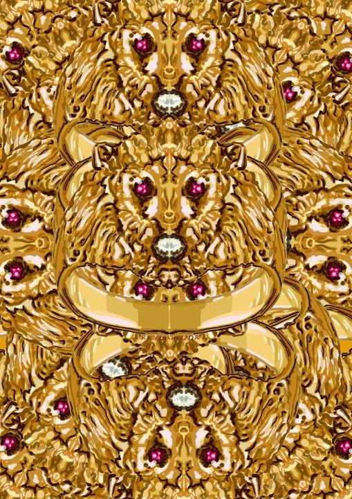Le lion en or - RICEBARE CREATIONS